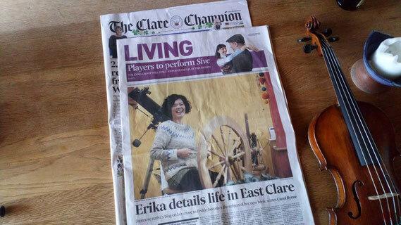 アイルランドのローカル紙に記事が。