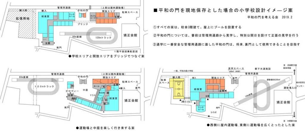 「平和の門を考える会」が示している3つの代替案