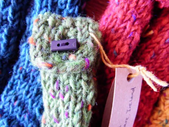 アイルランドから届いた手編みアップタグ部分