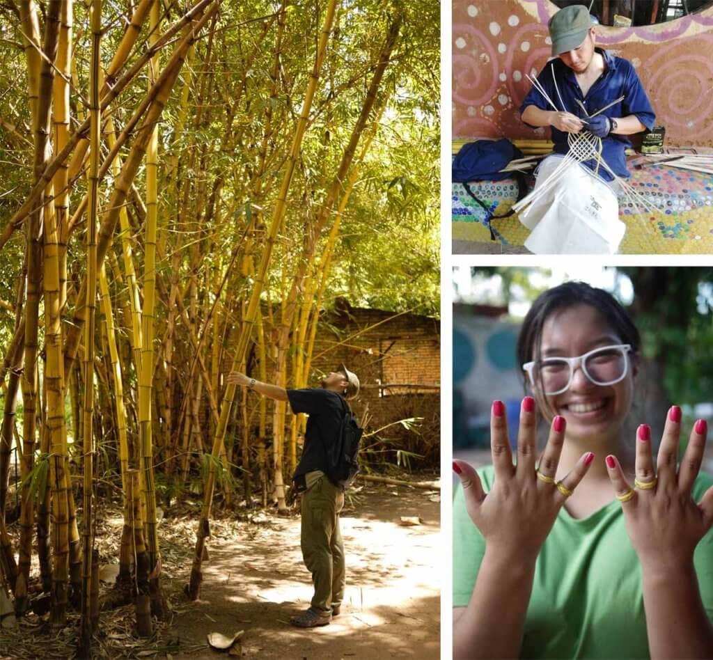 竹林とかごあみと指輪の写真