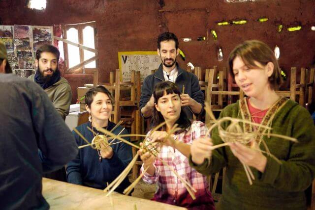 竹細工のワークショップの様子その2