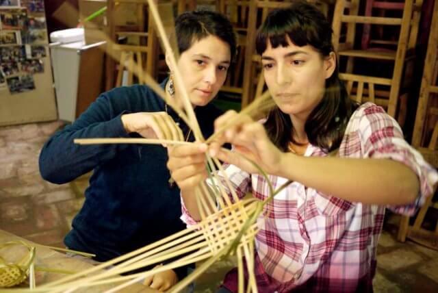 竹細工のワークショップの様子その3