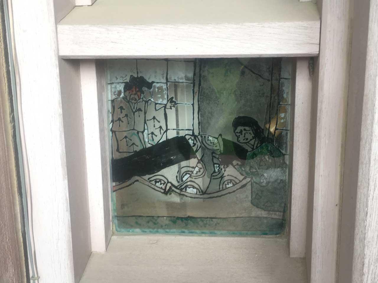 笠原小学校のガラス窓
