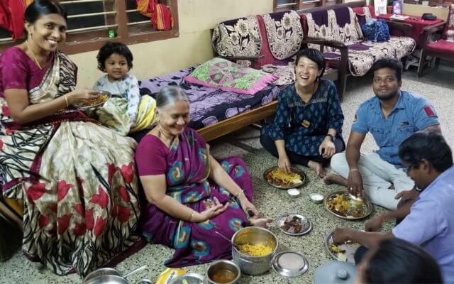 南インドの家族の写真