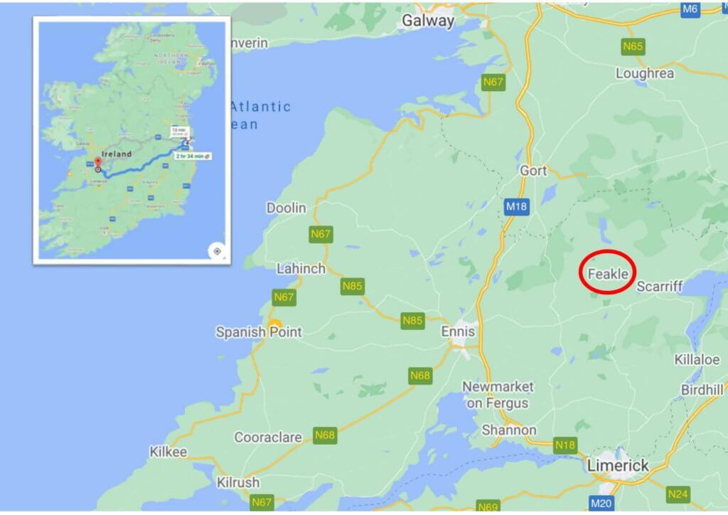 アイルランド、フィークルの位置