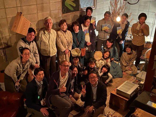 広島県安芸高田市にてお話し会の集合写真