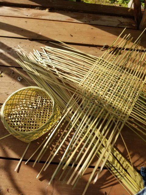 竹カゴの写真
